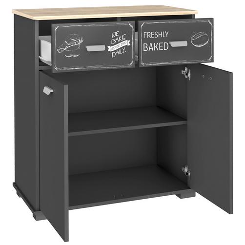 mueble auxiliar 2 puertas para que tu cocina luzca m s. Black Bedroom Furniture Sets. Home Design Ideas